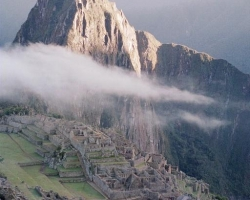 magic cloud over machu pichu
